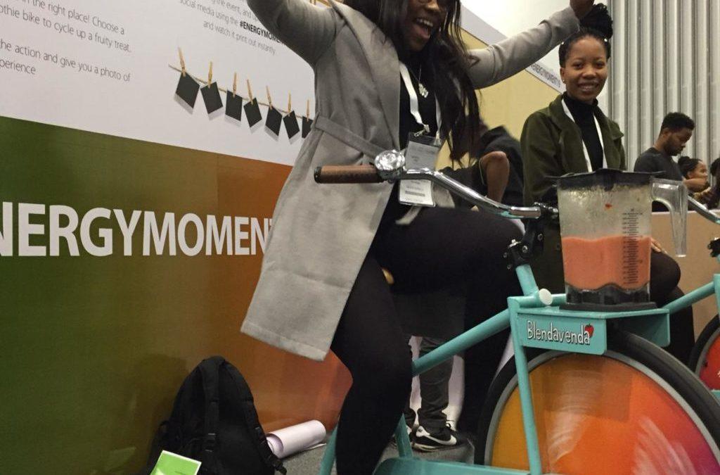 Blendavenda Smoothie Bikes @ African Utility Week